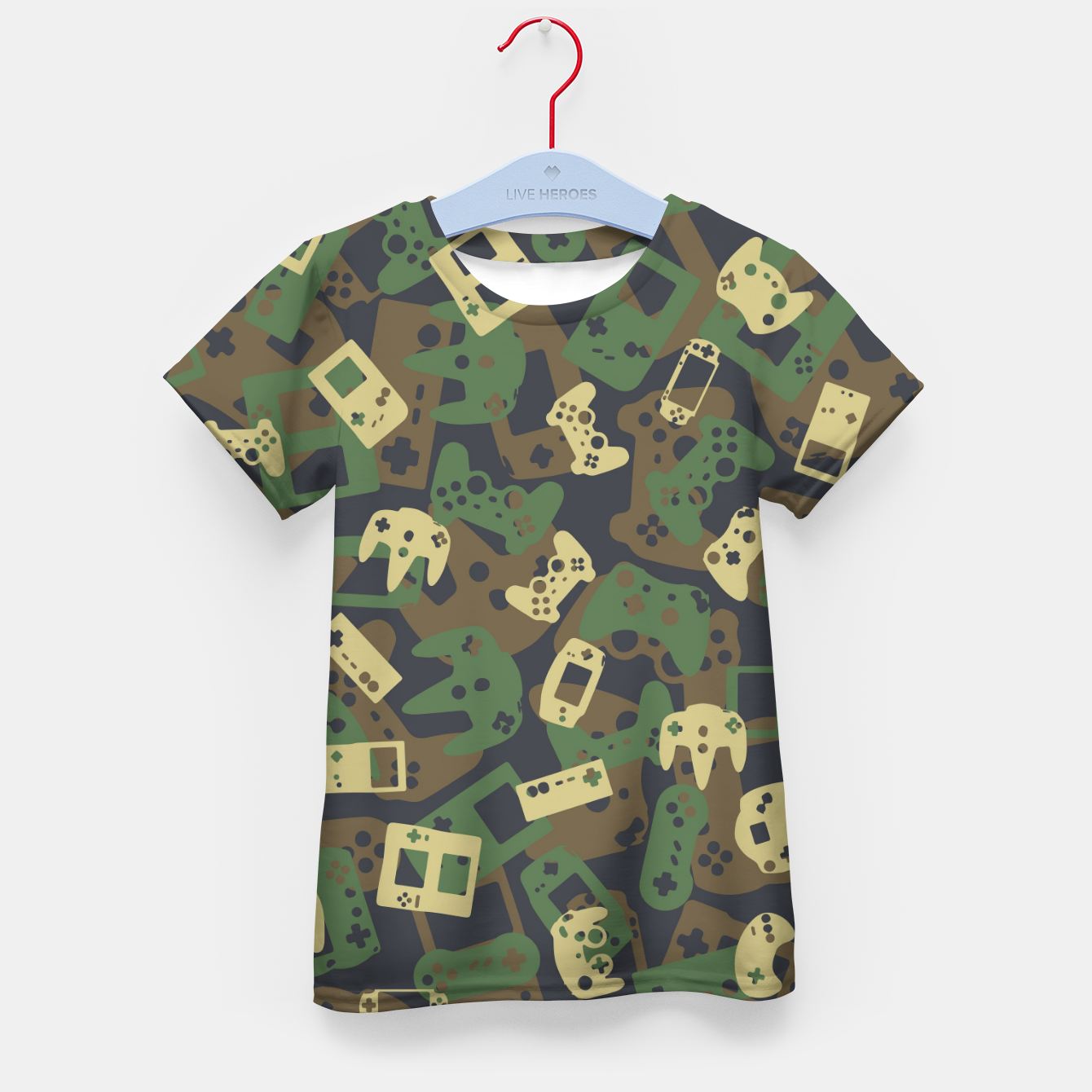 Image of Gamer Camo WOODLAND Kid's t-shirt - Live Heroes