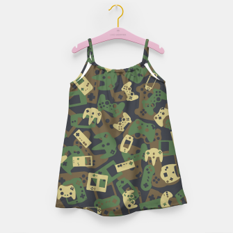 Miniaturka Gamer Camo WOODLAND Girl's dress, Live Heroes