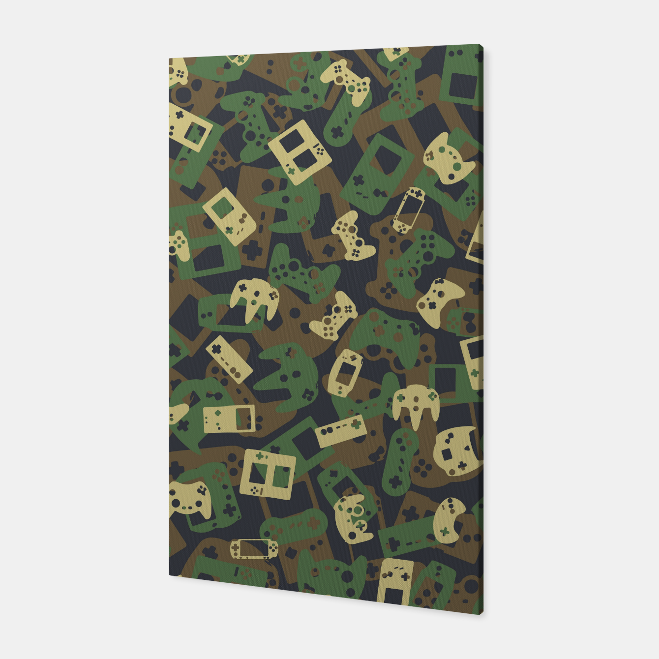 Image of Gamer Camo WOODLAND Canvas - Live Heroes