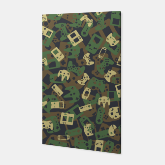 Thumbnail image of Gamer Camo WOODLAND Canvas, Live Heroes