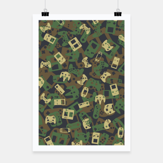 Thumbnail image of Gamer Camo WOODLAND Poster, Live Heroes