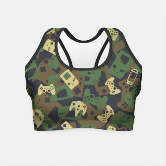 Thumbnail image of Gamer Camo WOODLAND Crop Top, Live Heroes