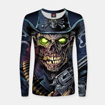 Thumbnail image of Zombie Police Women sweater, Live Heroes