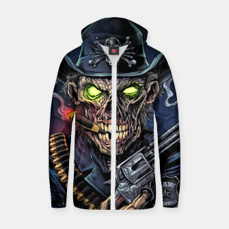 Thumbnail image of Zombie Police Zip up hoodie, Live Heroes