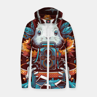 Thumbnail image of Freak Rabbit Zip up hoodie, Live Heroes