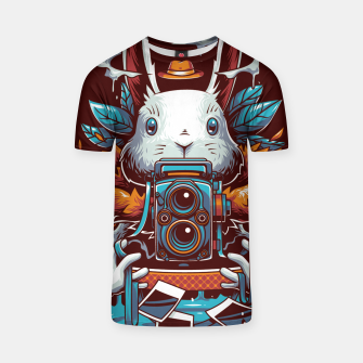 Thumbnail image of Freak Rabbit T-shirt, Live Heroes