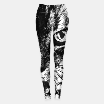 cat 1 black&white Legginsy thumbnail image