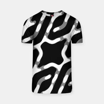 Thumbnail image of Dark Geometric Print T-shirt, Live Heroes