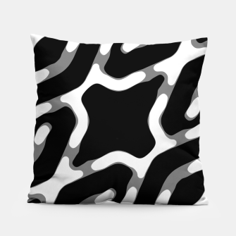 Dark Geometric Print Pillow thumbnail image