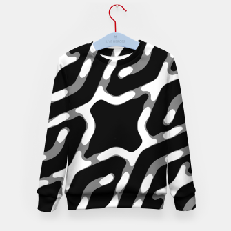 Dark Geometric Print Kid's sweater thumbnail image