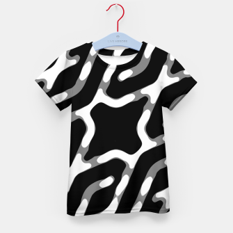 Dark Geometric Print Kid's t-shirt thumbnail image