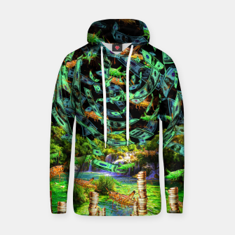 Thumbnail image of Hoppin' Money (lucky, green, grasshoopers) Hoodie, Live Heroes