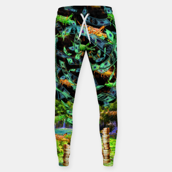 Hoppin' Money (lucky, green, grasshoopers) Sweatpants thumbnail image