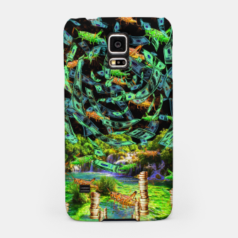 Hoppin' Money (lucky, green, grasshoopers) Samsung Case thumbnail image