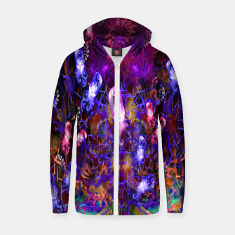 Thumbnail image of Jelly Coral Glow (jellyfish, ocean, water) Zip up hoodie, Live Heroes