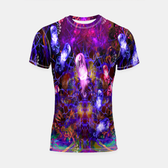 Thumbnail image of Jelly Coral Glow (jellyfish, ocean, water) Shortsleeve rashguard, Live Heroes