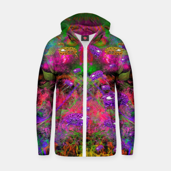 Thumbnail image of Beetle Entrancement (fluorescent, psychedelic) Zip up hoodie, Live Heroes
