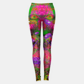 Thumbnail image of Beetle Entrancement (fluorescent, psychedelic) Leggings, Live Heroes