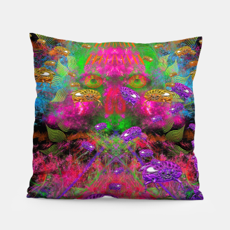 Thumbnail image of Beetle Entrancement (fluorescent, psychedelic) Pillow, Live Heroes