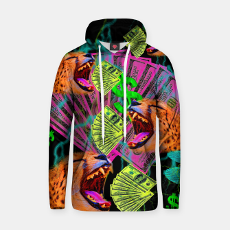 Thumbnail image of Money Chomp (cheetah, cat, fluorescent) Hoodie, Live Heroes