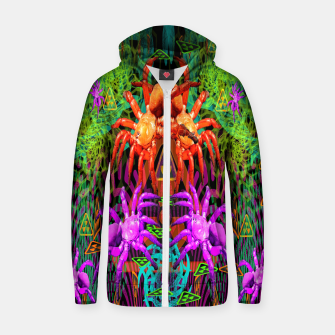 Thumbnail image of Radioactive Creepy Crawlies (spiders, halloween, toxic) Zip up hoodie, Live Heroes