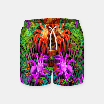 Thumbnail image of Radioactive Creepy Crawlies (spiders, halloween, toxic) Swim Shorts, Live Heroes