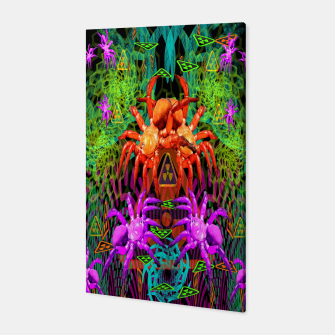 Thumbnail image of Radioactive Creepy Crawlies (spiders, halloween, toxic) Canvas, Live Heroes