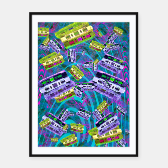 Thumbnail image of 90's Cassettes (music, retro) Framed poster, Live Heroes