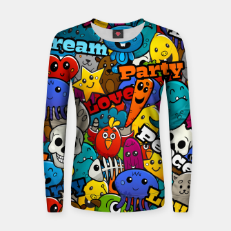Thumbnail image of Graffiti Characters Women sweater, Live Heroes
