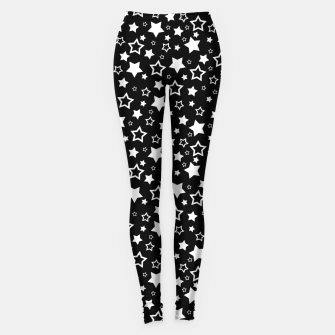 Miniatur Dark Star Pattern Leggings, Live Heroes