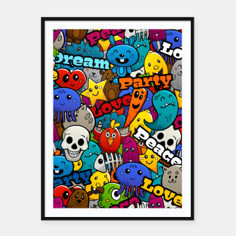 Thumbnail image of Graffiti Characters Framed poster, Live Heroes