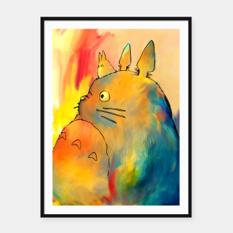 Thumbnail image of totoro Framed poster, Live Heroes