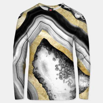 Thumbnail image of Agate Gold Foil Glam #1 #gem #decor #art Unisex sweatshirt, Live Heroes
