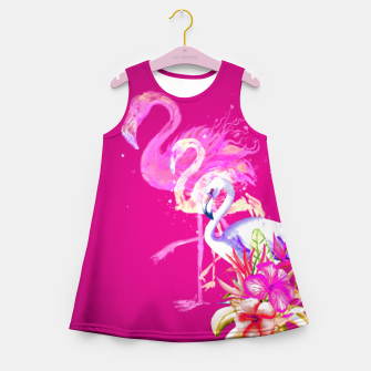 Thumbnail image of Hotpink flamingo girlsdress, Live Heroes