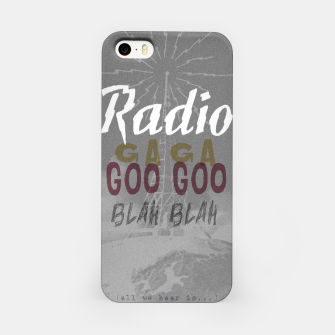 Radio Blah Blah iPhone Case Bild der Miniatur