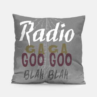 Radio Blah Blah Pillow Bild der Miniatur