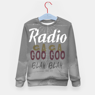 Radio Blah Blah Kid's sweater Bild der Miniatur