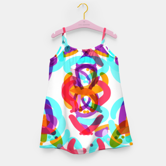 Thumbnail image of Power colorful abstract art Girl's dress, Live Heroes