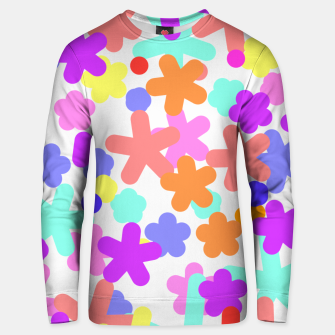 Thumbnail image of flower pattern happy Unisex sweater, Live Heroes