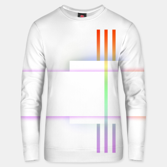 Thumbnail image of Minimal geometric white Unisex sweater, Live Heroes