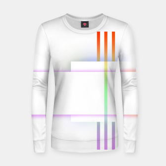 Thumbnail image of Minimal geometric white Women sweater, Live Heroes