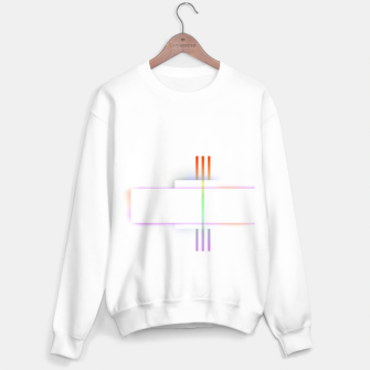 Thumbnail image of Minimal geometric white Sweater regular, Live Heroes