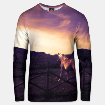 Thumbnail image of animal lover unicorn Unisex sweater, Live Heroes