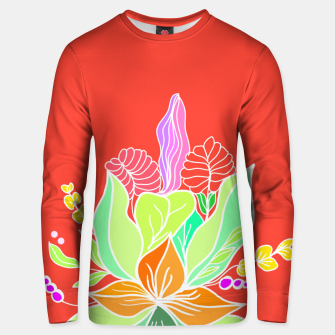Thumbnail image of Colourful floral illustration on popcolors Unisex sweater, Live Heroes