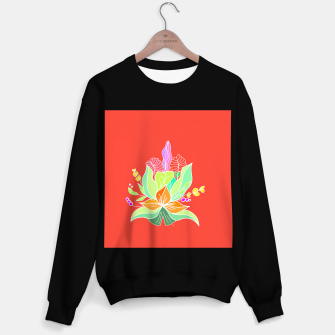 Thumbnail image of Colourful floral illustration on popcolors Sweater regular, Live Heroes