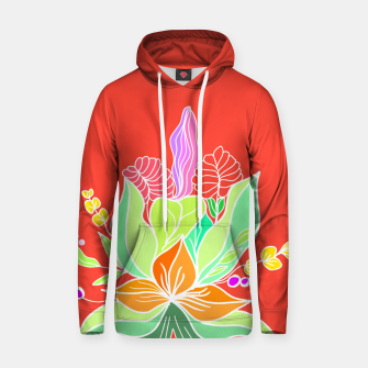 Thumbnail image of Colourful floral illustration on popcolors Hoodie, Live Heroes