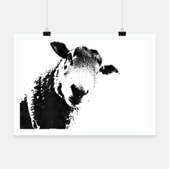 Thumbnail image of sheep black&white Plakat, Live Heroes