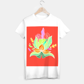 Thumbnail image of Colourful floral illustration on popcolors T-shirt regular, Live Heroes