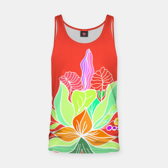 Thumbnail image of Colourful floral illustration on popcolors Tank Top, Live Heroes