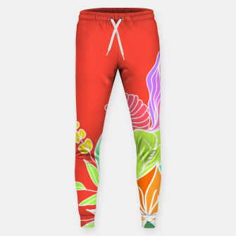 Thumbnail image of Colourful floral illustration on popcolors Sweatpants, Live Heroes